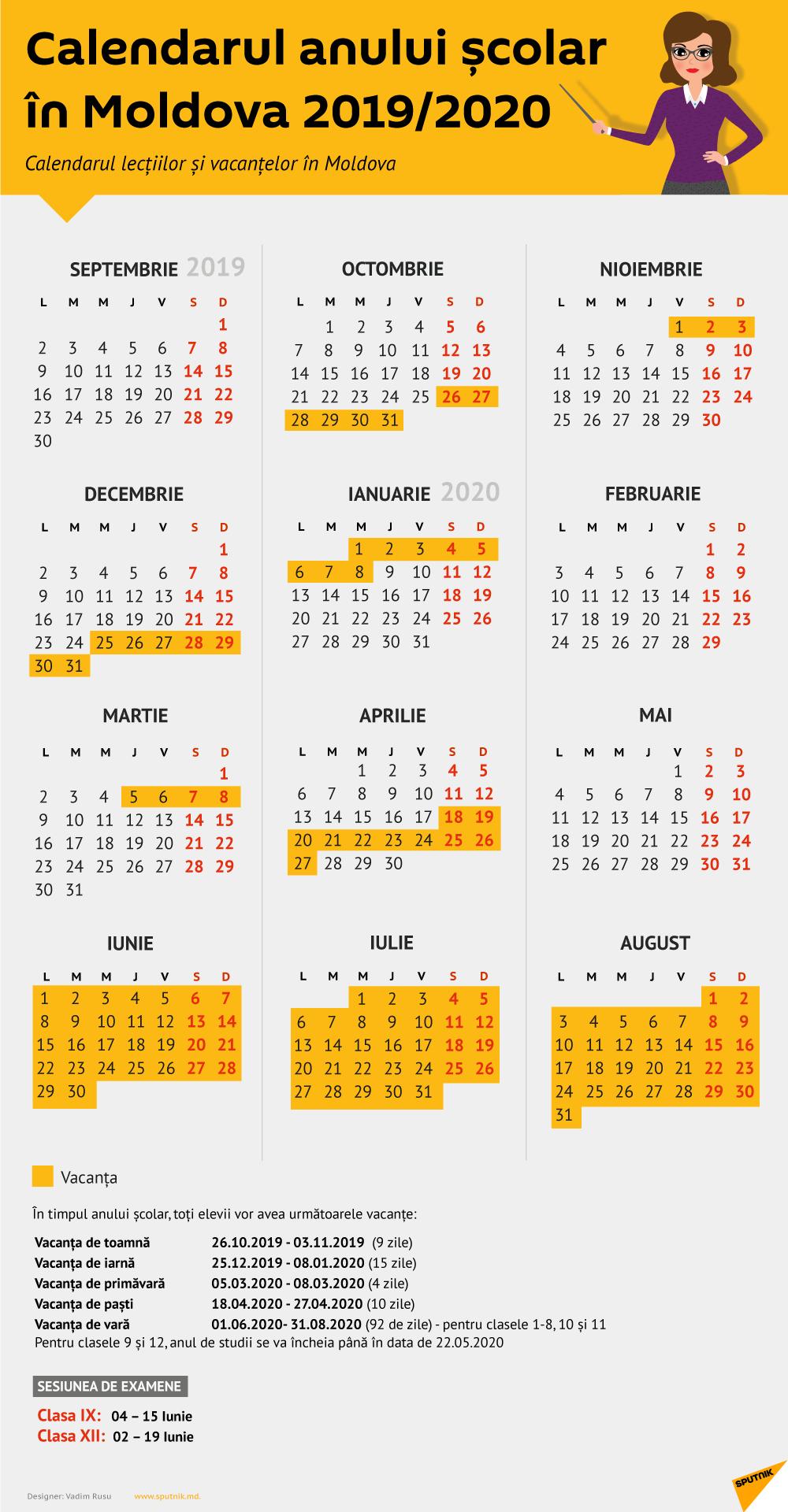 Calendar 2019 Pe Saptamani