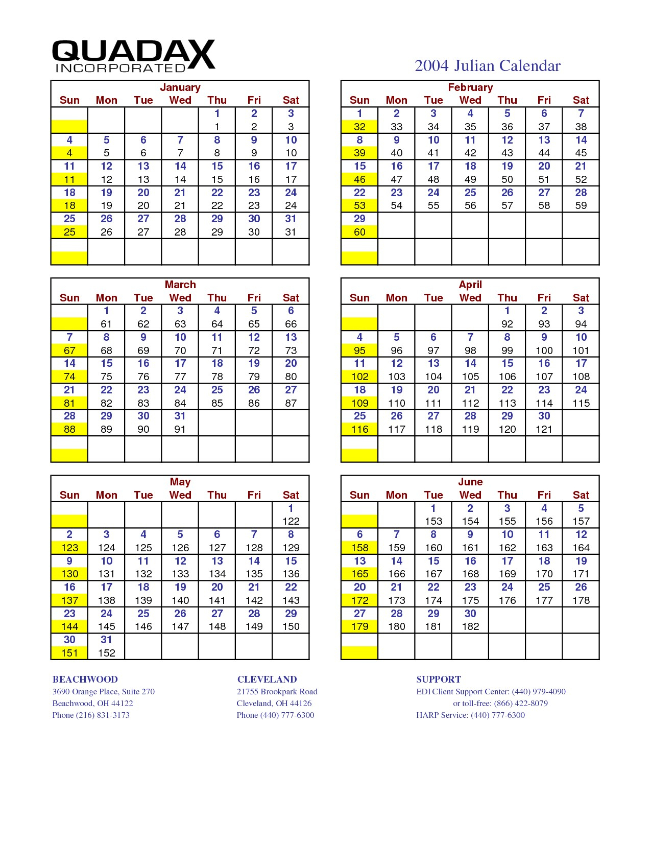 Calendar Julian 2021 Quadax | Free Printable Calendar