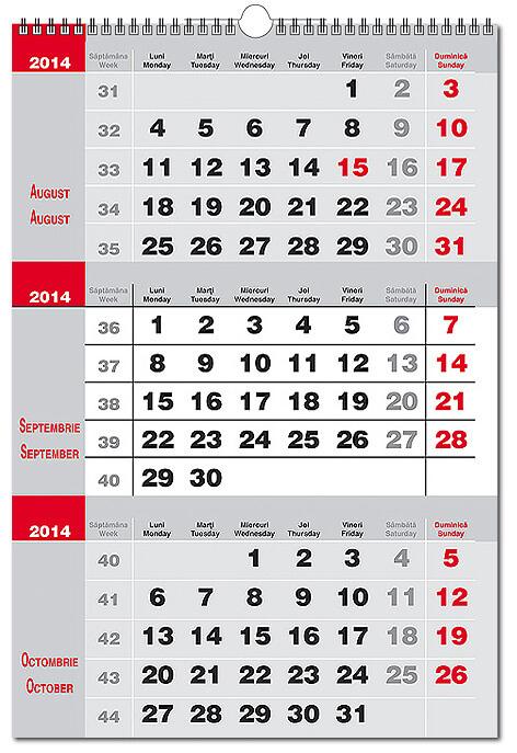 Calendare Perete , Calendare Triptice Personalizate