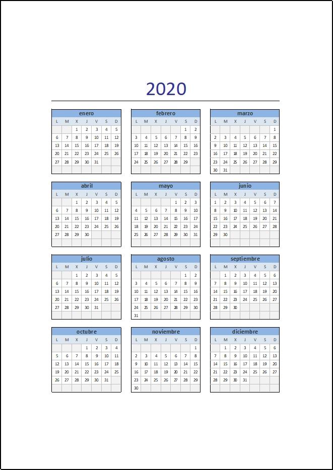 Calendario Con Numero Juliano Image | Calendar Template 2020