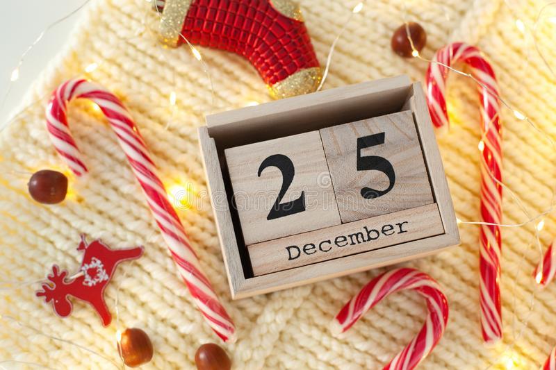 Christmas December 25 Date On Calendar With Christmas