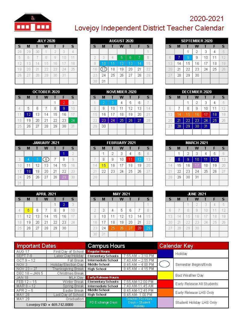 Compensation & Calendars - Human Resources - Lovejoy
