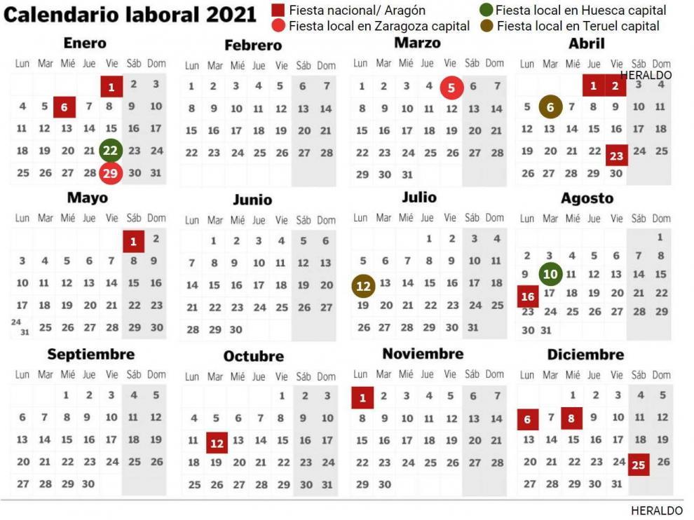Festivos 2021 En La Provincia De Zaragoza: De Calatayud A Ejea
