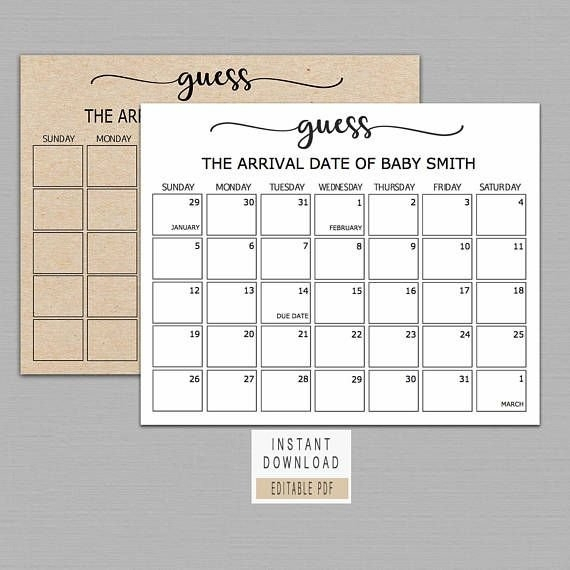 Guess The Date Template Download Image | Calendar Template