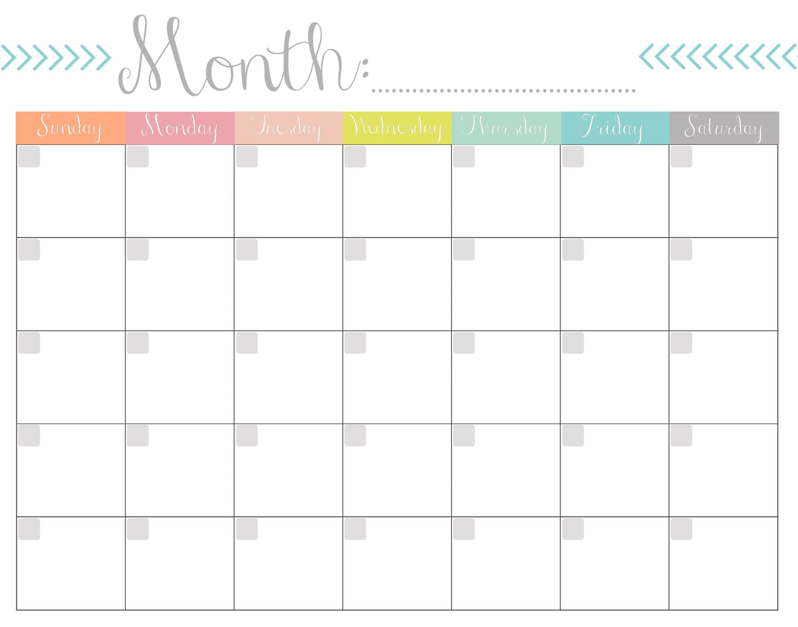 How To Design Writeable Monthly Bill-Payments Calendar