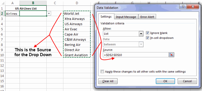 How To Make A Drop Down List In Excel