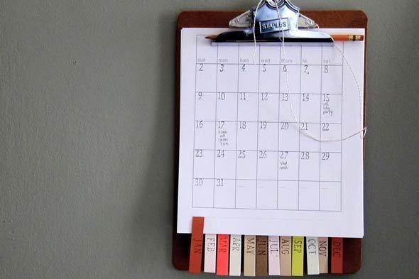 Make A Simple, Diy Calendar You'Ll Actually Want To Use