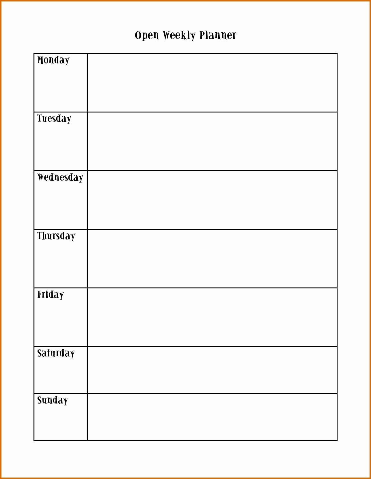 Monday Wednesday Friday Schedule Template | Calendar