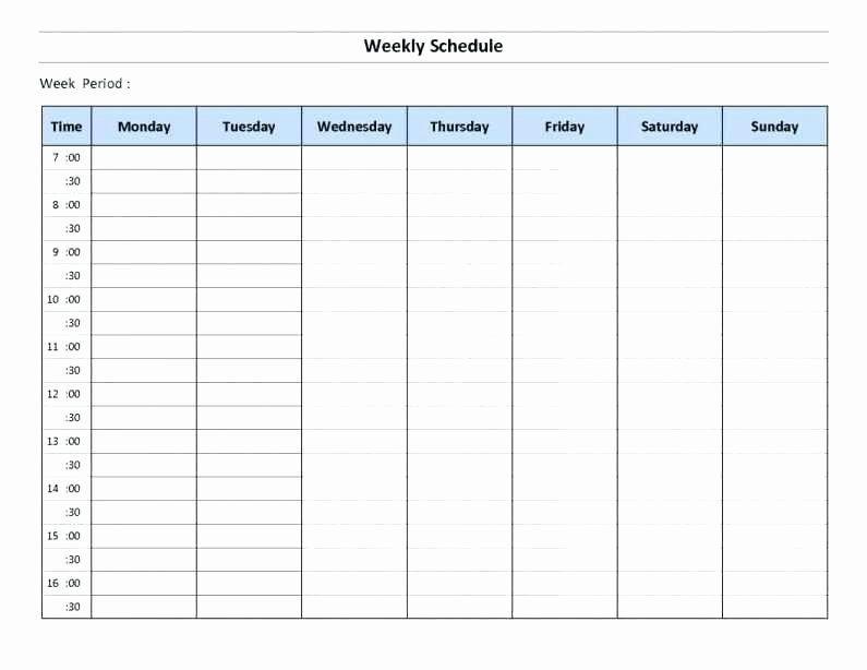 Monthly Employee Schedule Template Excel Elegant Excel