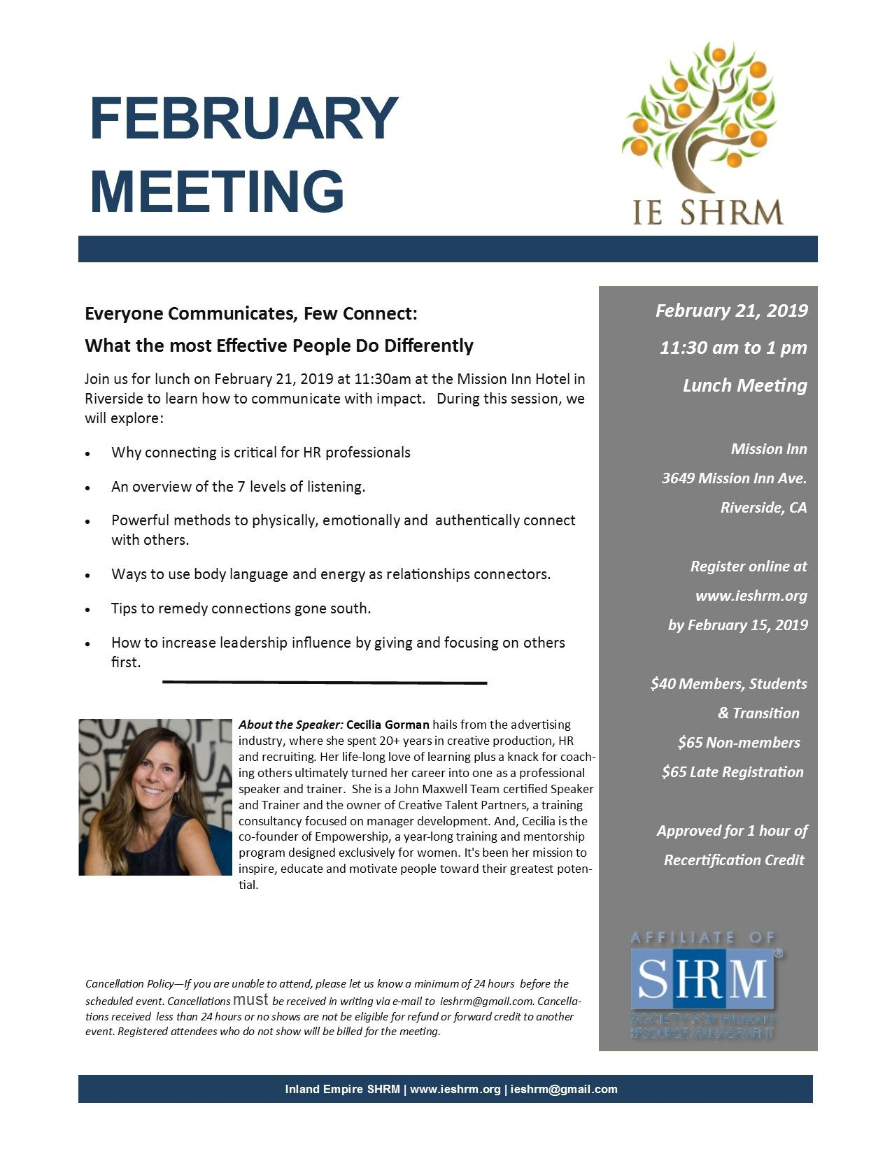 Pin By Inland Empire Shrm On Chapter Events | Event