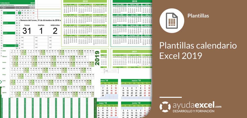Plantillas Calendario En Excel 2019