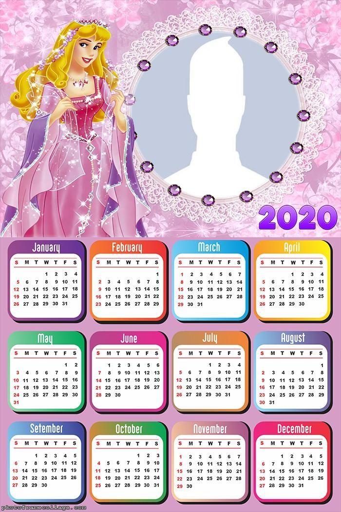 Princess Aurora Calendar 2020 | Calendar Design, Calendar