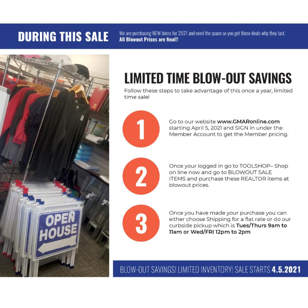 Shop Gmar'S April Realtor Merchandise Blowout Sale
