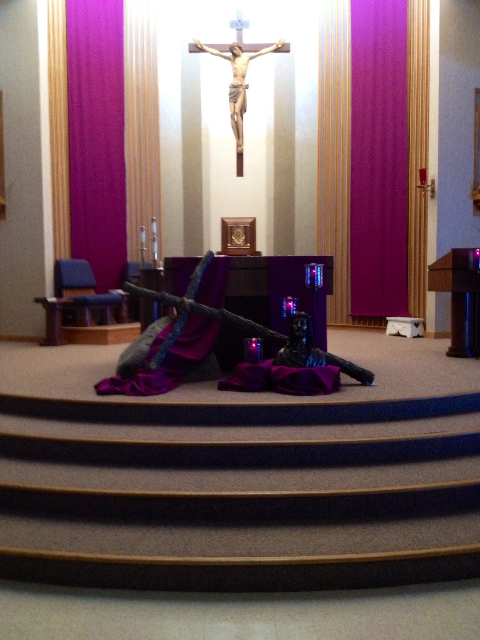St Mary'S Lent Display Pinckney, Mich 2013 | Altar Design
