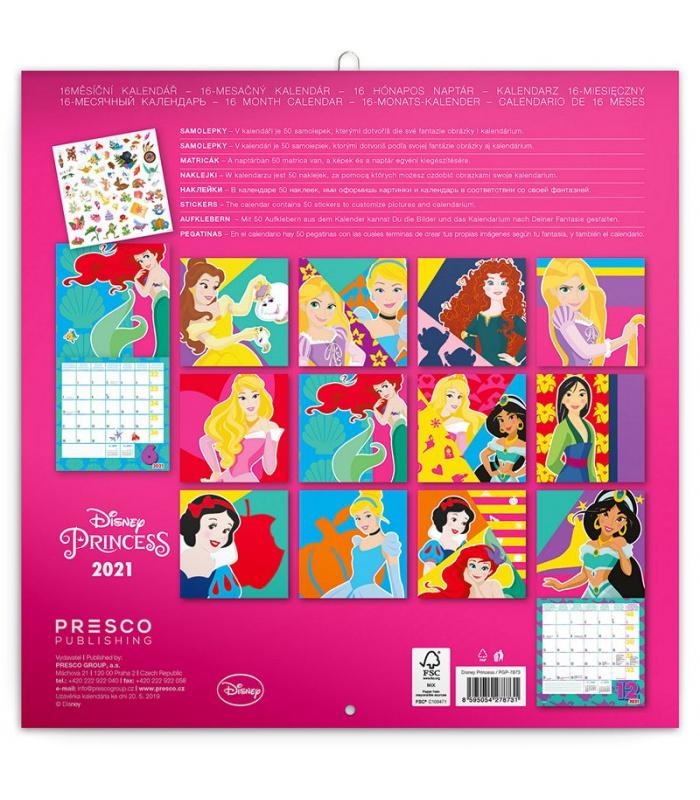 Wall Calendar Princess 2021