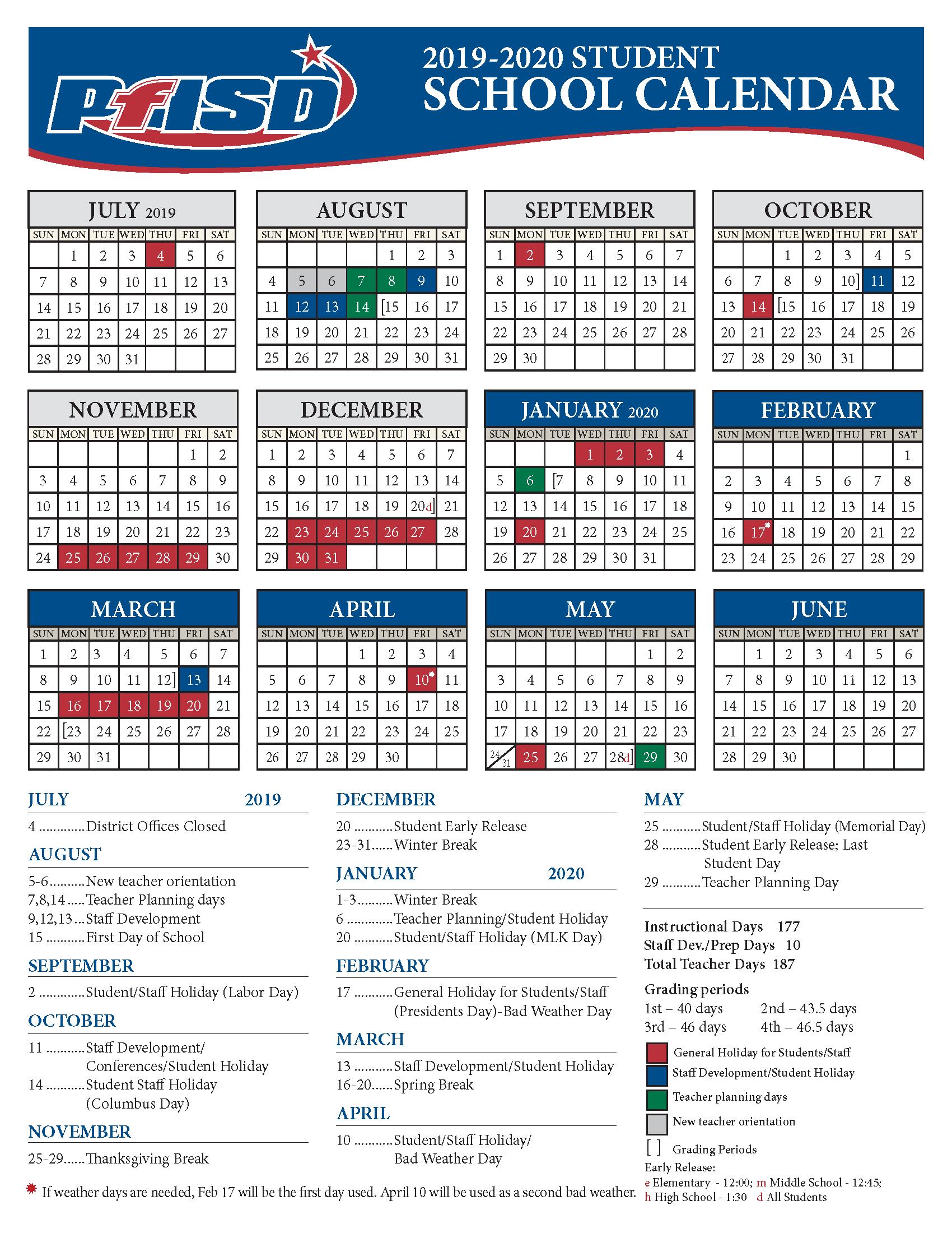 2019 2021 Plano Isd Calendar | 2022 Calendar