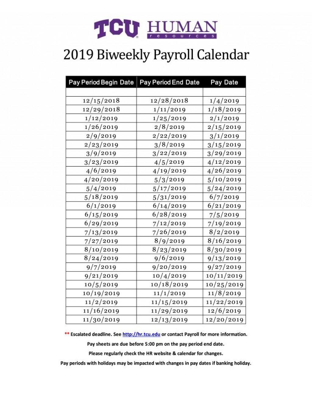 2020 Biweekly Payroll Calendar Template ~ Addictionary