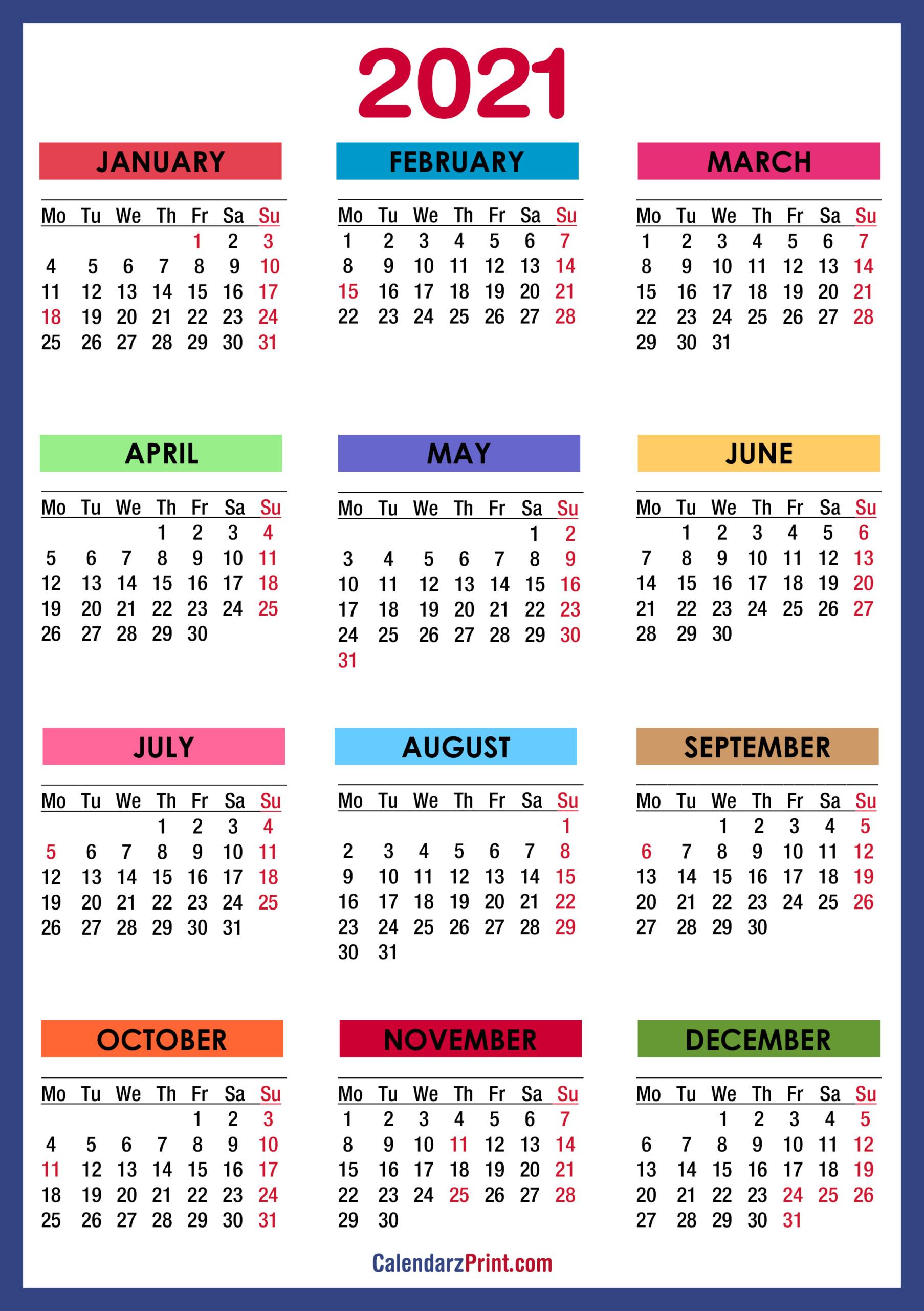 2021 Calendar With Us Holidays Printable Pdf | 2021
