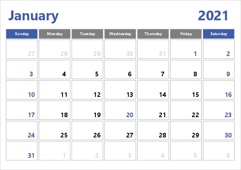 2021 Excel Calendar Template : Free Printable April 2021