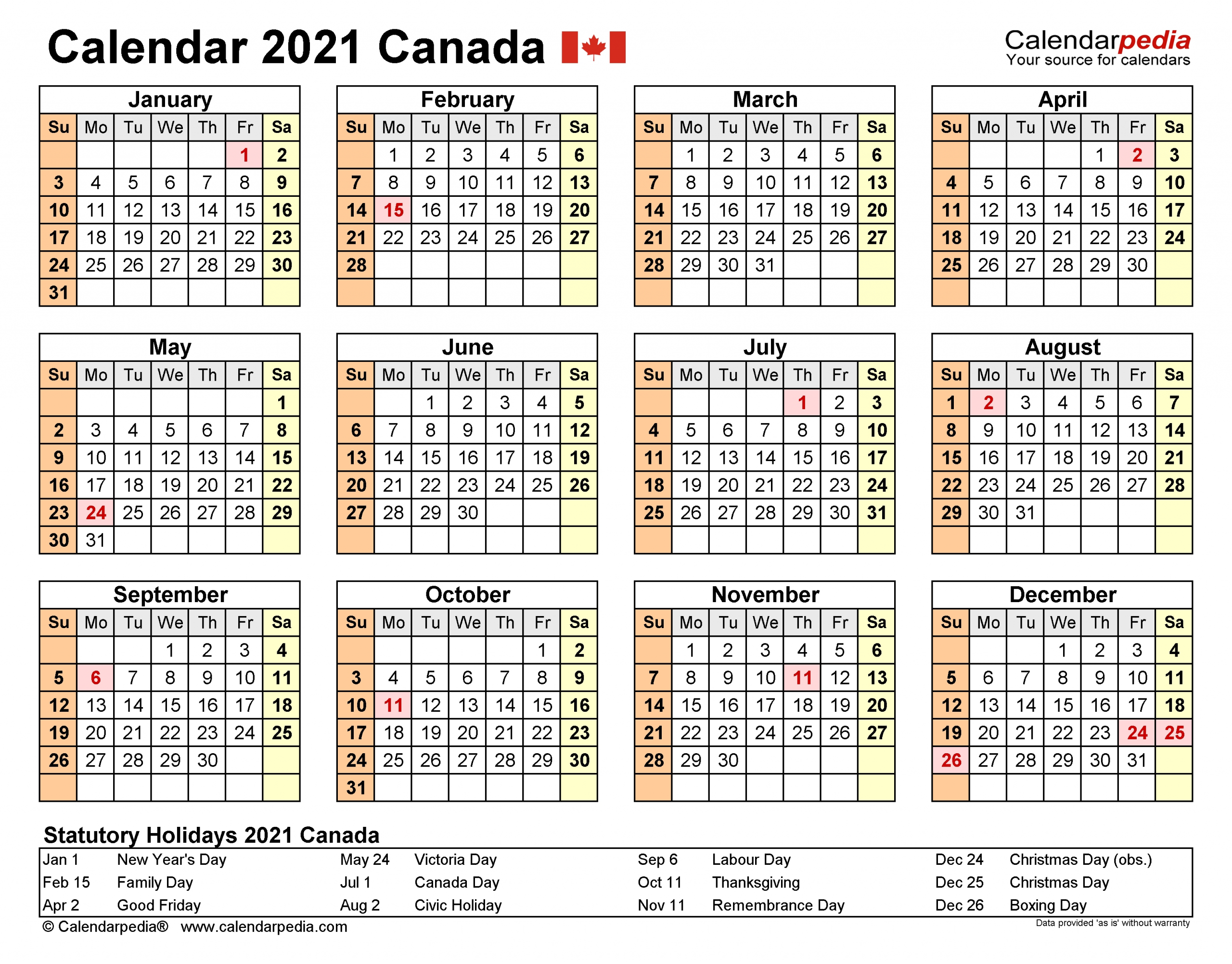 2021 Financial Year Calendar - Template Calendar Design