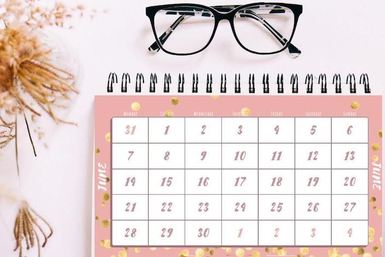 2021 Table Monthly Calendar Printable / 12 Month Calendar