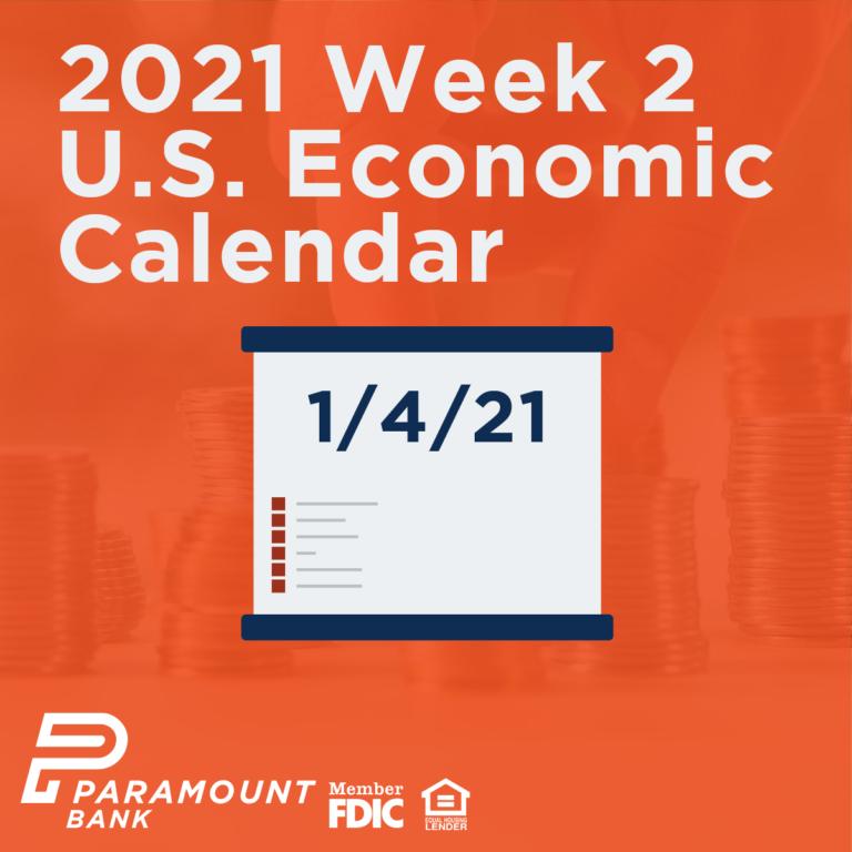 2021 Week 2 Us Economic Calendar - Paramount Bank 2021