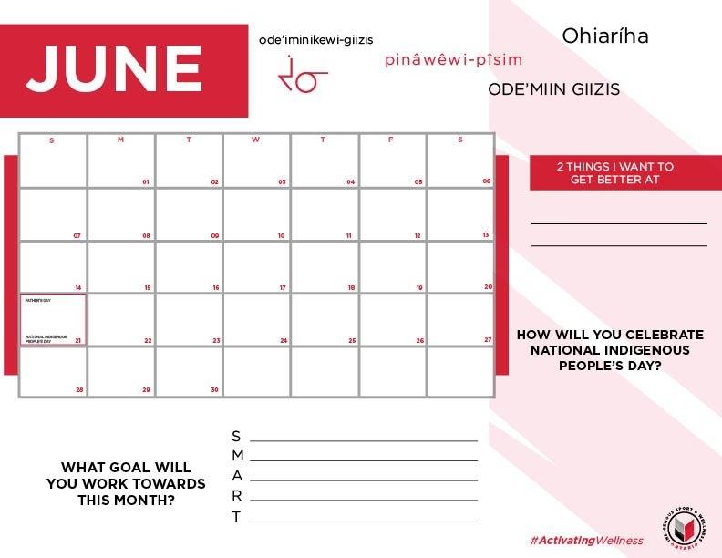 90-Day Calendar - Indigenous Sport & Wellness Ontario For