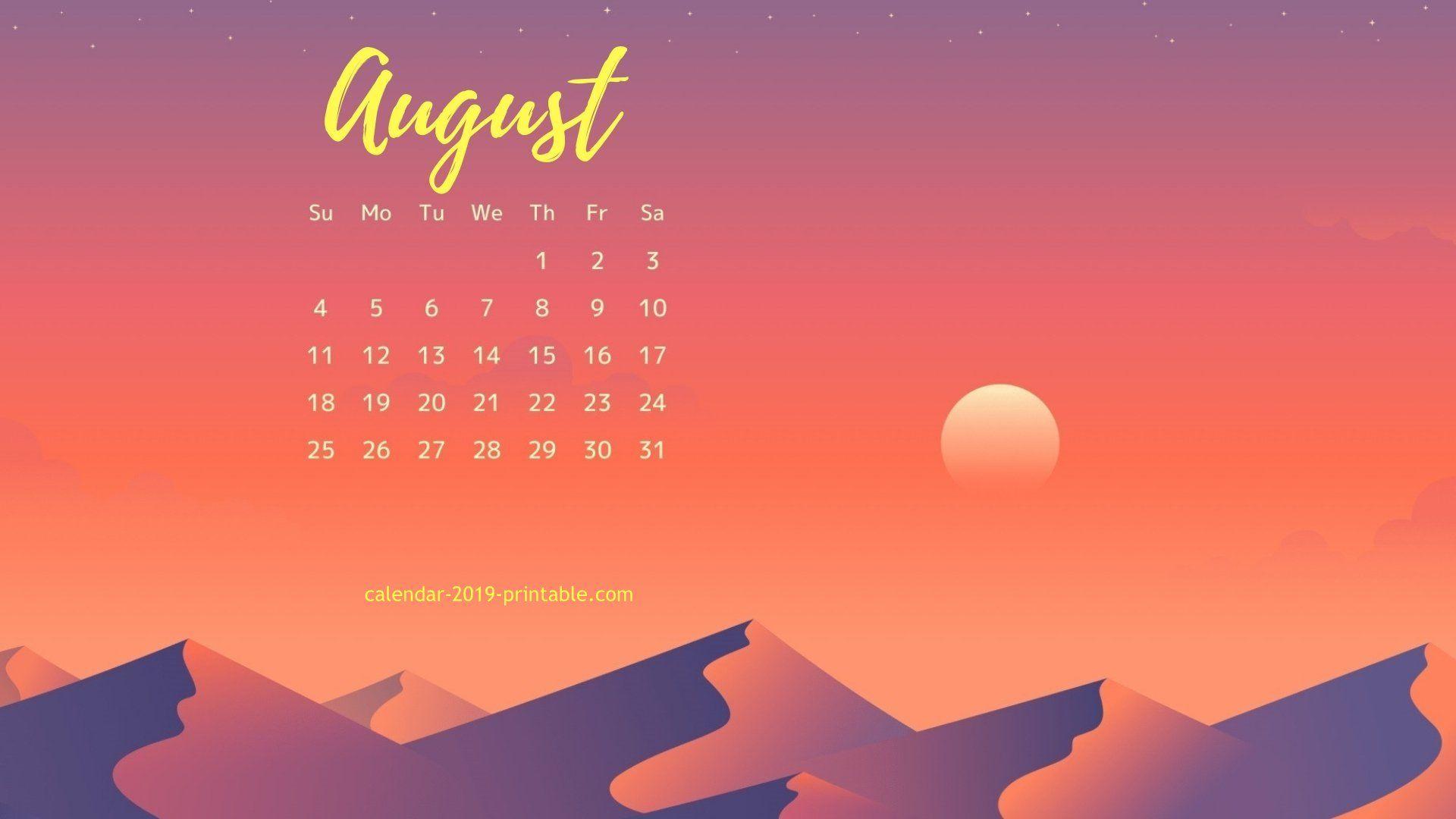 August 2019 Calendar Wallpaper   Calendar Wallpaper, 2019