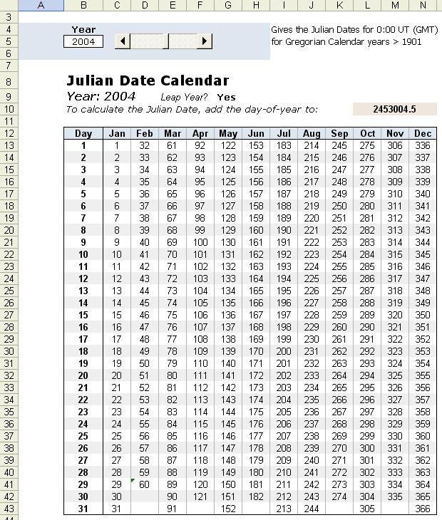 Calendário Juliano 2020 Excel Image