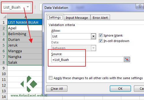 Cara Membuat Drop Down List Tanggal Di Excel - Kreatifitas