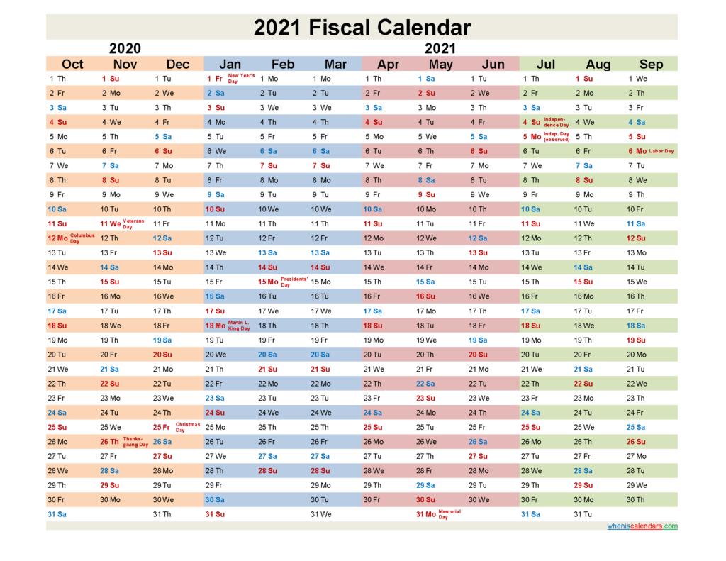 Costco Fiscal Year 2021 Calendar