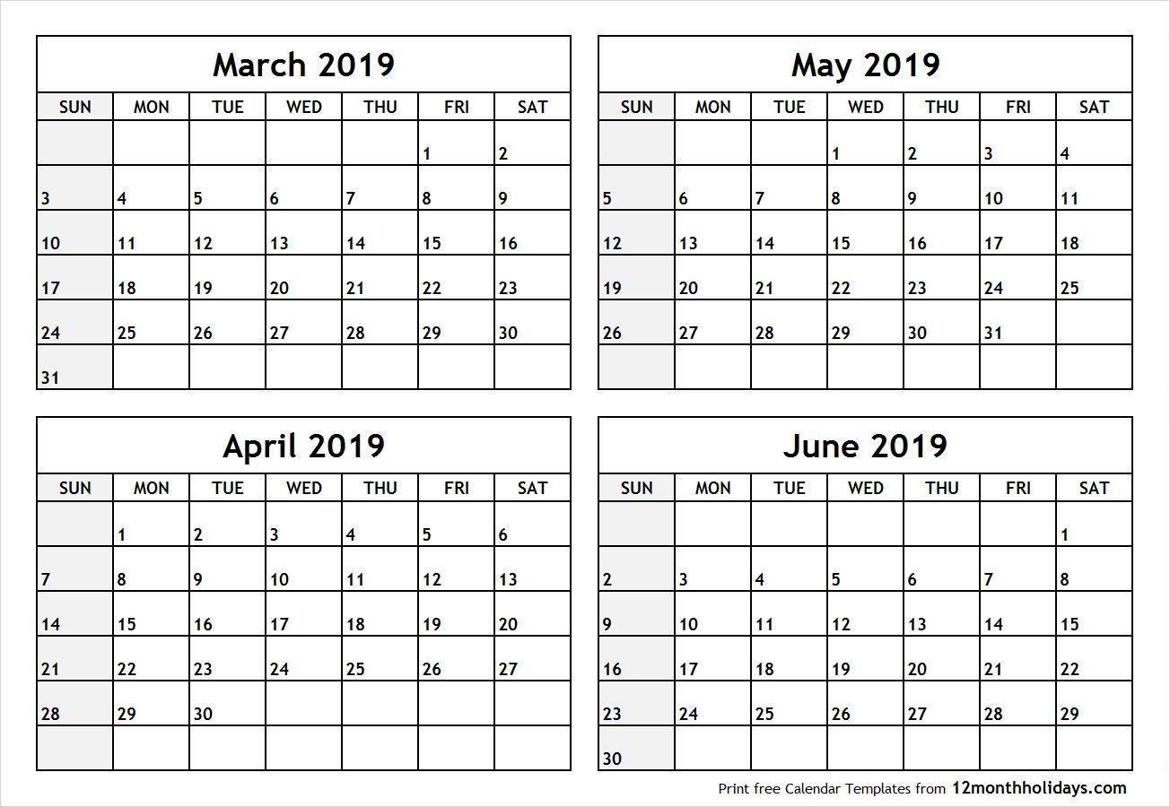 Dashing Calendar 2020 Printable Free Three Months Per Page