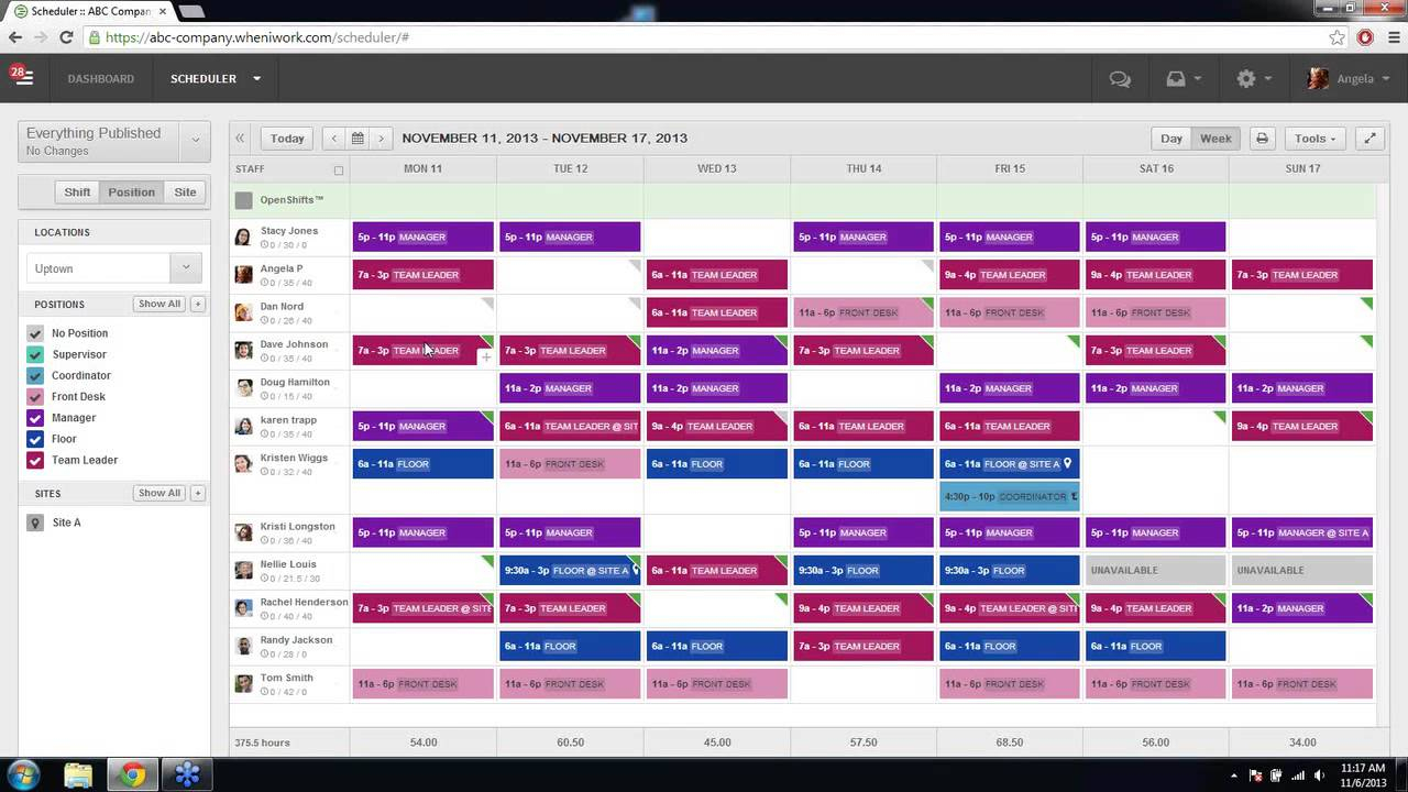 Employee Scheduling Training - Youtube