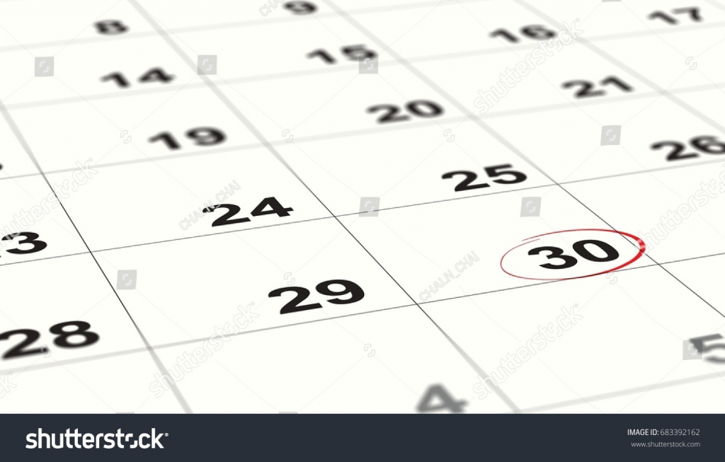 End Of The Calendar - Calendar Template 2021