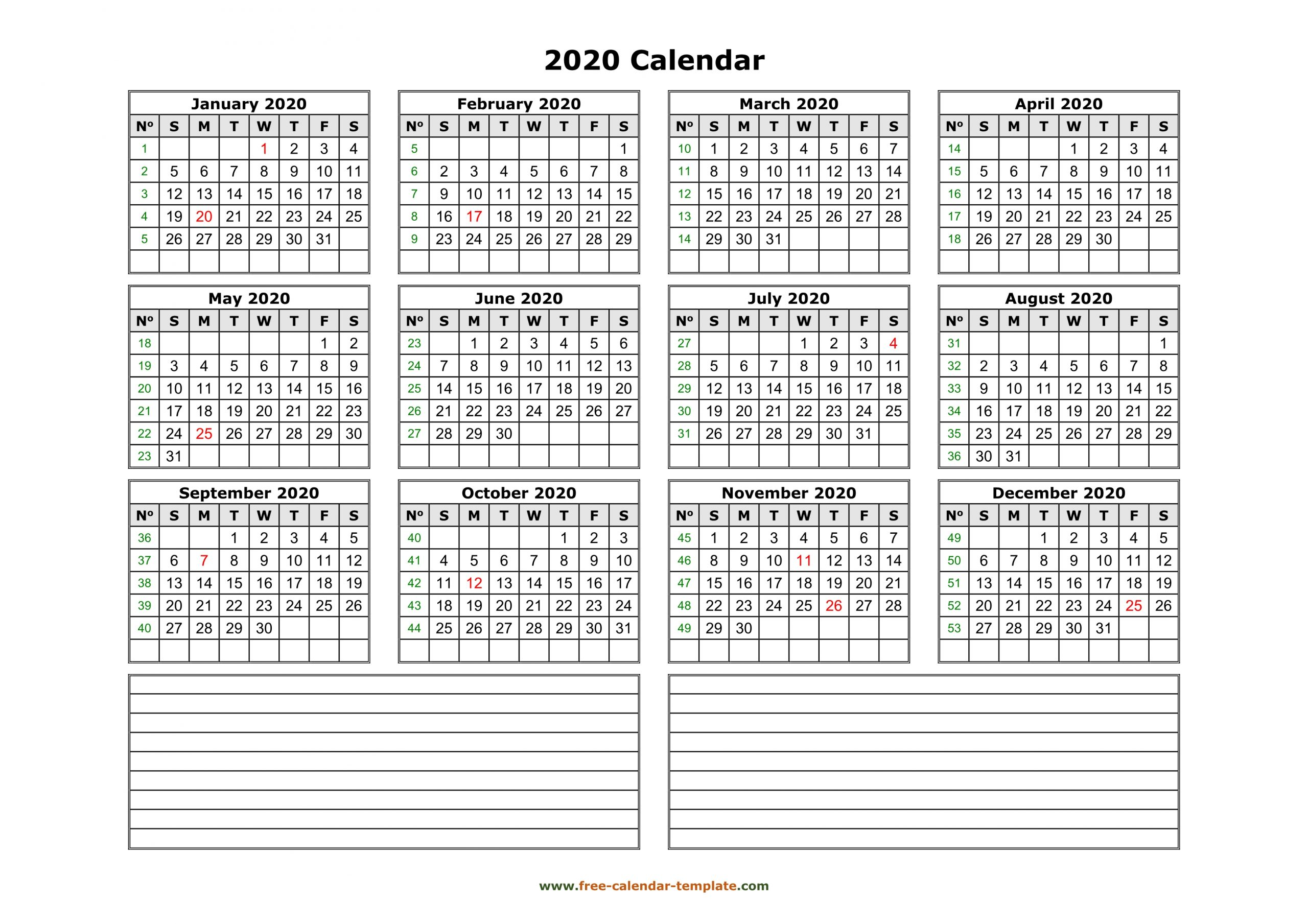 Free 12 Month Word Calendar Template 2021 - 2021 Free