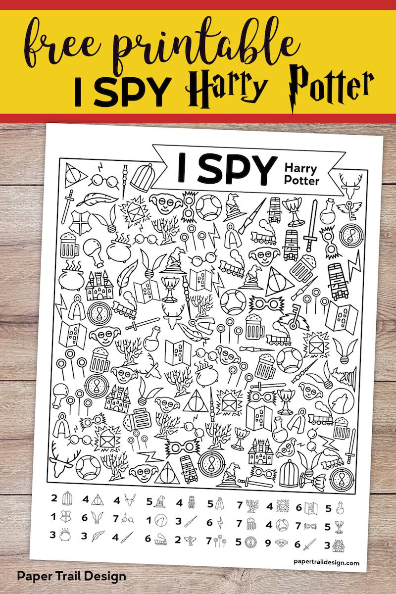 Free Printable Harry Potter I Spy Game - Paper Trail Design