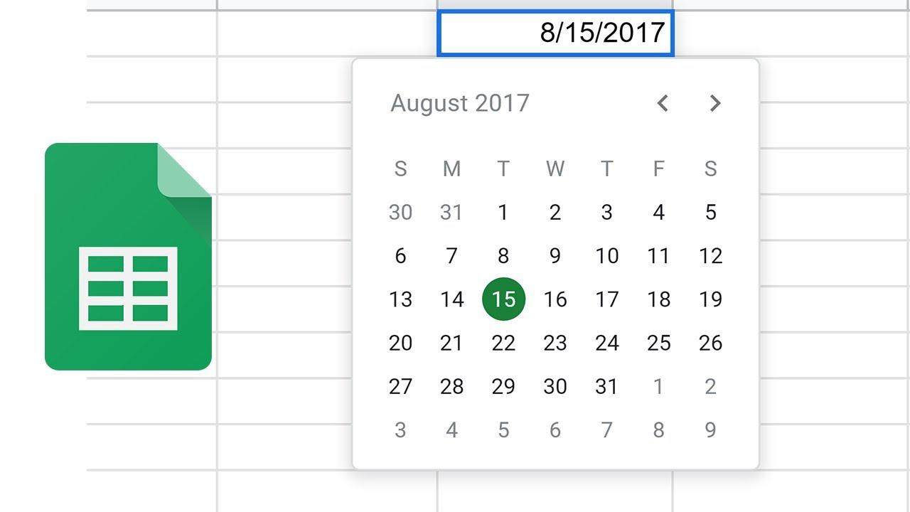 Google Sheets - Add A Pop-Up Calendar Date Picker - Youtube