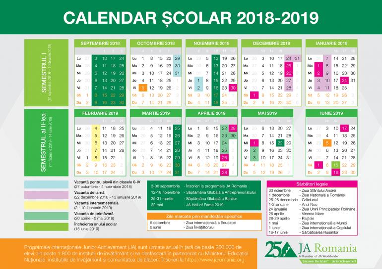 Începe Semestrul Al Ii-Lea Al Anului Şcolar 2018-2019