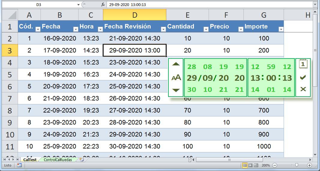Nuevo Control De Calendario Rodante Como Un Date & Time
