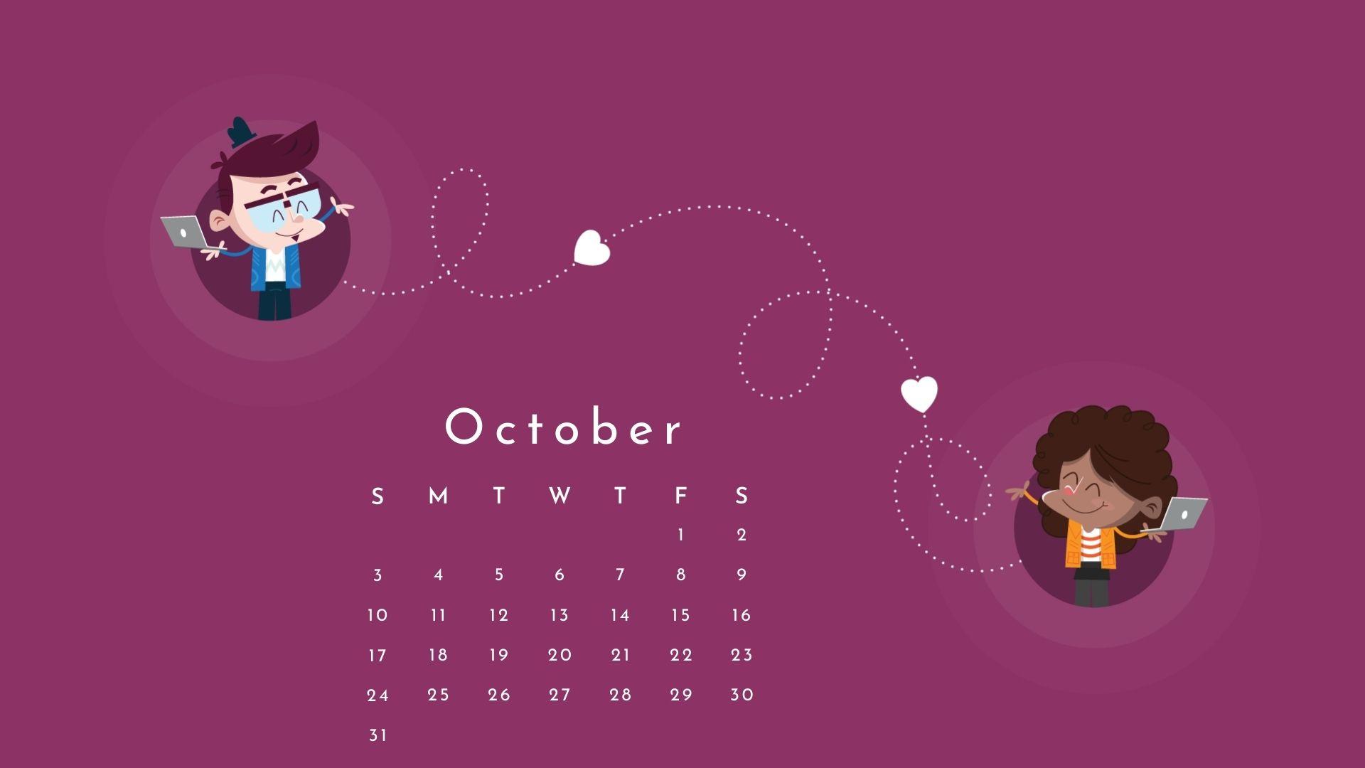 October 2021 Calendar Hd Desktop Wallpapers   Calendar 2021