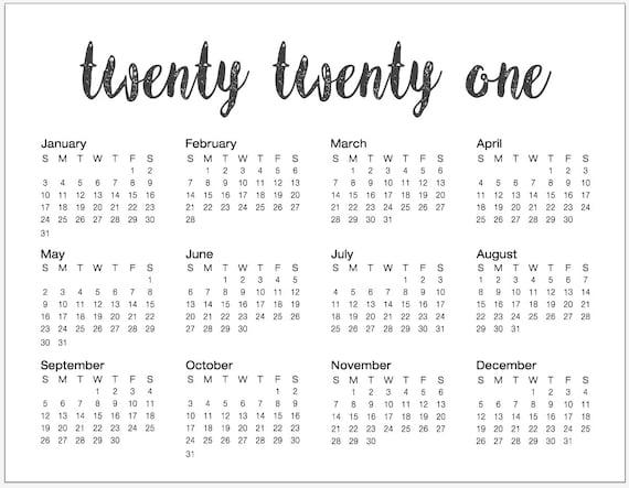 Printable 85X11 Calendar - Free Printable 2020 Floral