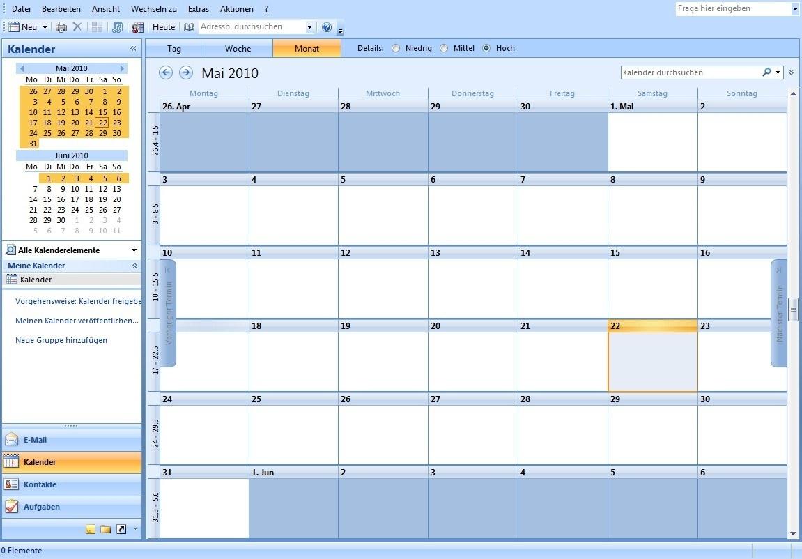 Year Calendar View In Outlook | Ten Free Printable